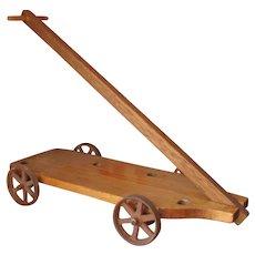 Antique Platform for Pull Toy