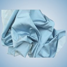 Lovely Iridescent French Blue Silk Faille