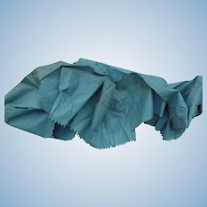 Lovely French Blue Polished Cotton Flounce Lining