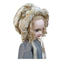 Unusual Late 1800's Silk Velvet Beaded Bonnet