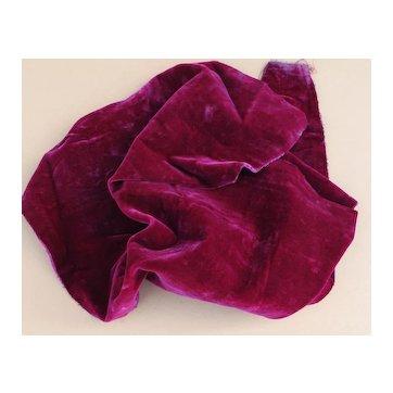 Gorgeous and Rare Fuchsia Silk Millinery Velvet