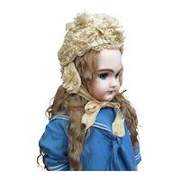 Superb Fancy Ribbon Bonnet for Large Doll