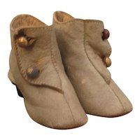Lovely  Antique Fashion Boots in Unusual Grey Leather