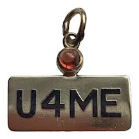 Rare REBUS Charm U4ME in 14K Gold