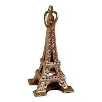 Vintage 18k French Hallmarks Eiffel Tower Charm