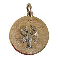 Vintage 14k Gold Zodiac Charm for Scorpio