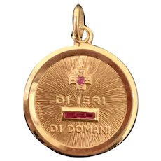 Rare! Di Ieri, Di Domani 18k Gold Italian More Today Than Yesterday Charm