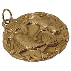 Vintage 14k Gold Pisces Zodiac Charm