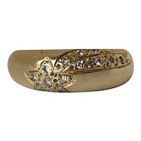French 18k Gold & Diamond Shooting Star Ring