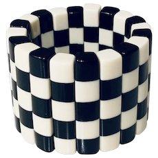Designer French Resin Stretch Bracelet