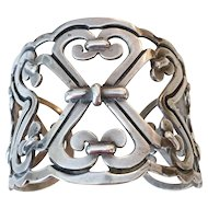 Early Taxco Sterling Silver Cuff Bracelet, circa 1930-40's