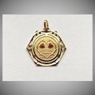 "Rare ""Altijd Samen""  Dutch Love Token Charm ""Always Together"""