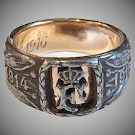 Austro-Hungarian Empire Cast Iron WW1 Ring