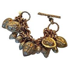 Fabulous 1980s Dominique Aurientis Paris Multi-Charm Bracelet