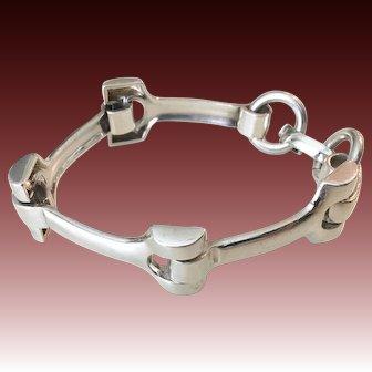 Mid-Century Sterling Silver German Bracelet by Grosse