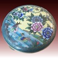 Japanese Cloisonné Enamel  Compact. c.1920. Taisho Period