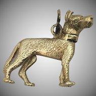 Vintage Bobble Head Dog 14k Gold