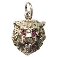 14K Gold Lion Pendant/Charm