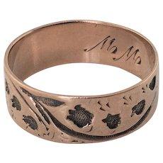 Beautiful 14k Gold Victorian Cigar Band Ring
