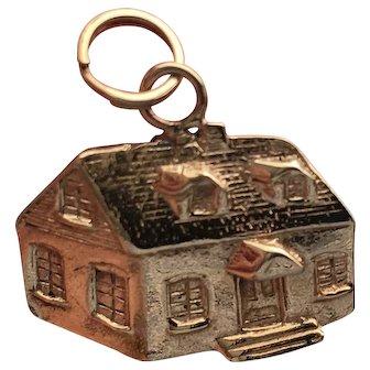 Vintage 14k Gold 3-dimensional Charm of Quaint House