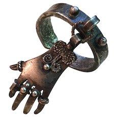 Vintage Silver Dangling Hamsa Ring