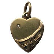 Beautiful 14k Art Nouveau Heart Charm ~ Locket