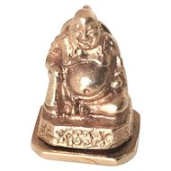 Lucky 14k Gold Buddha Charm with Hidden Compartment
