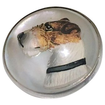 Superb! Essex Crystal Pin of Fox Terrier in Sterling