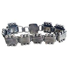Vintage Hector Aguilar Taxco Sterling Bracelet