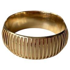 Vintage Sculptural Italian 14k Gold Bracelet