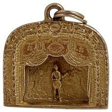 14k Gold Metropolitan Opera House Charm by Henryk Kaston