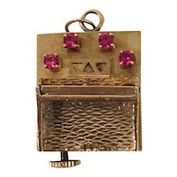 "14k Gold American Charm Co. ""PIANO"" Music Box Charm Circa 1950's"