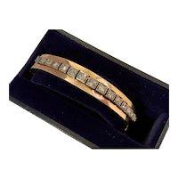 French 18K & Rose Cut Diamond Bracelet, circa 1850's