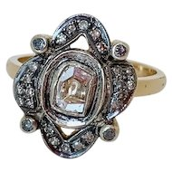 Beautiful Diamond 14k Gold Antique Ring
