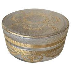 French Gilded Luxury Vanity Dresser Jar, circa 1900