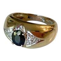 Beautiful Vintage 18k Gold, Sapphire & Diamond Ring w/Provenance!
