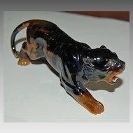 Large carved TIGER'S EYE Figurine - Tiger