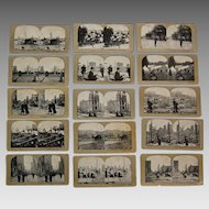 Antique photographic SAN FRANCISCO EARTHQUAKE - Stereoviews in Sequence  (set 1 - 25)