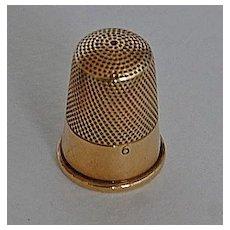 Antique GOLD THIMBLE - 14K Gold / Wide Plain Band / Size 6