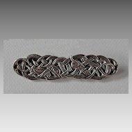Signed Sterling CELTIC BROOCH - IONA, knotwork design, Vintage