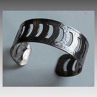 Vintage Sterling HAND HAMMERED Cuff Bracelet - Signed Danecraft