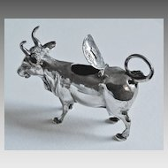 Antique SILVER COW CREAMER - Continental Silver / 19th Century