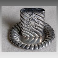 c1890, Sterling MATCH HOLDER w/Strike - Ornate