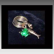 CHARM RING - Enamel & 14K Gold - Fish / Hat / Frog
