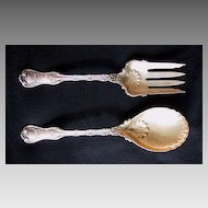 Whiting IMPERIAL QUEEN - Sterling Silver SALAD SET (2 piece set)