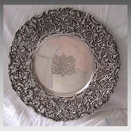 Antique STERLING TRAY - Ornate, J.E. Caldwell Sterling, c1890