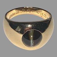 CHRYSOBERYL Cat's Eye Ring - 14K Gold, J.E.Caldwell & Co., Vintage circa: 1930