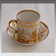 c1790, signed (Perche) OLD PARIS - Cup & Saucer