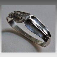 Vintage Signed DANISH STERLING Napkin Ring - W & S Sorensen, LOTUS