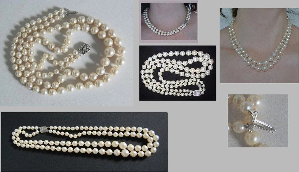 C1920 Cultured Pearl Necklace Double Strand Very Fine